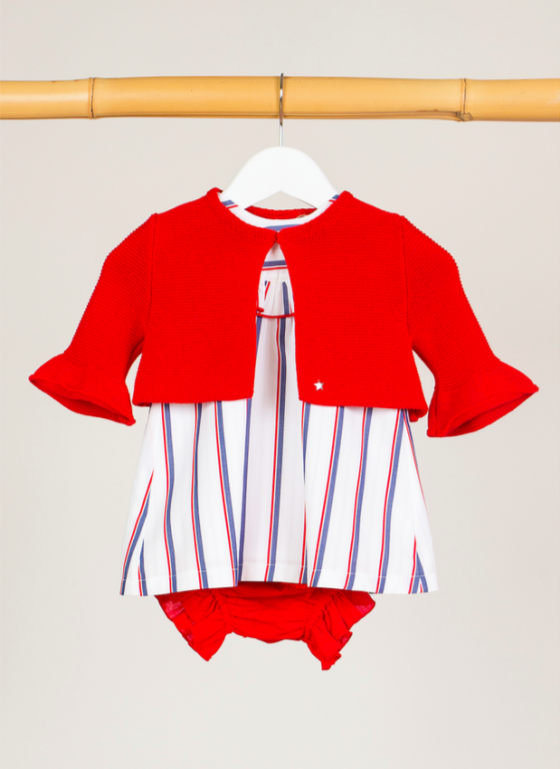 chaqueta kids chocolate roja